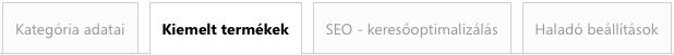 Webáruház termékkategória