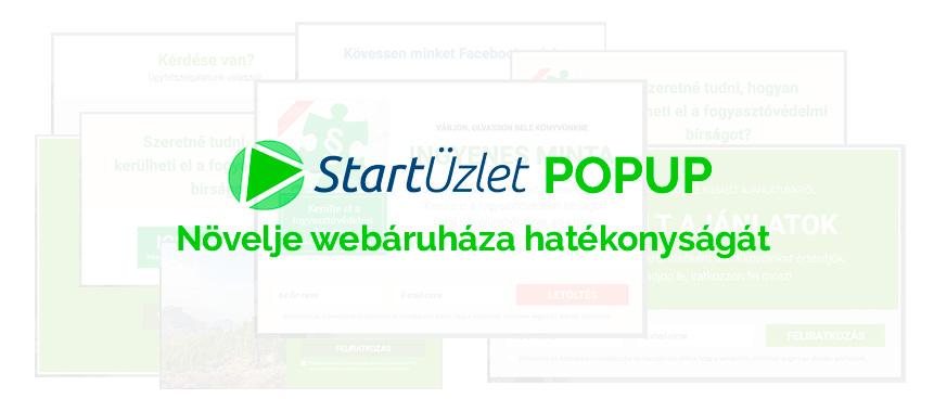 004413bcff Növelje webáruháza hatékonyságát a StartÜzlet beépített popup megoldásával