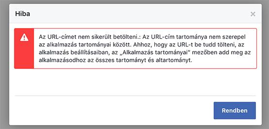 9e97b1a4b0 Ha Facebook bejelentkezést használ a webáruháza, akkor szükséges  módosítania egy beállítást
